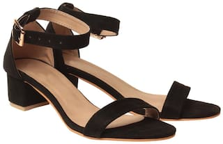 Klaur Melbourne Women Black Heeled Sandals