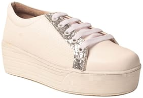 Women Solid Casuals ( Silver )