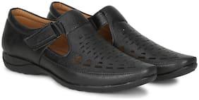 Kraasa Men Black Sandals