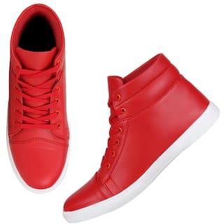 384b5fd69f7e83 Buy Kraasa Men Red Sneakers Online at Low Prices in India ...