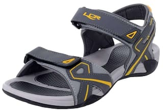 dae7da033 Buy Lancer Grey Yellow Men s Sandals Online at Low Prices in India ...