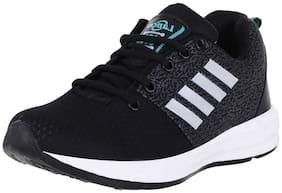 Lancer Men Black Sea Green Mesh Sports Running Walking Gym Shoes