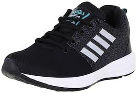 Lancer Men Black Running Shoes - Indus-12blk-sgrn