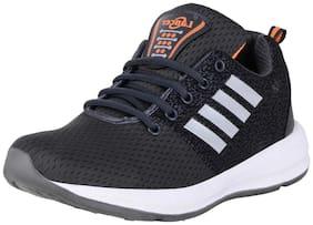 Lancer Men's Grey Orange Mesh Sports Running Walking Gym Shoes