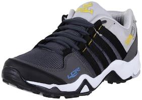 Lancer Men's Dark Black Mesh Sports Running Walking Gym Shoes