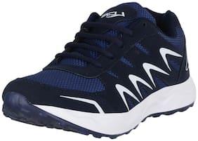 Lancer Men's Navy White Mesh Sports Running Shoes