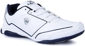 LANCER WHITE BLUE COLOR COMFORTABLE RUNNING / LIFESTYLE SPORTS SHOES FOR MEN