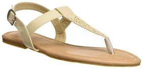 LAVIE Women Beige T-strap Flats