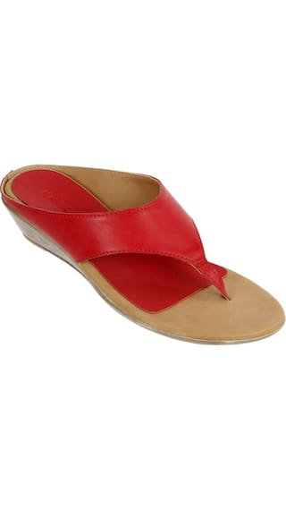 e6494f19104 Buy LAVIE Women Red Sandals Online at Low Prices in India ...