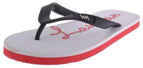 Lawman Pg3 White Flip Flops (Size-7)