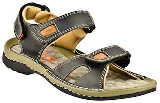Lee Cooper Men Black Sandals & Floaters