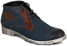 Lee Cooper Men's Blue Ankle Boots
