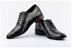 Lee Cooper Men's Black Leather Formal Shoes -