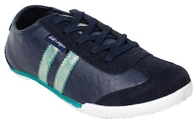 Lee Cooper Women Navy Suede Leather Sports Shoe