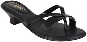 Legsway Black Kitten Heels