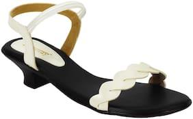 Legsway Women's White Kitten Heels