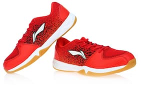 Lining Women Red Badminton/squash Shoes