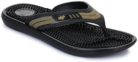 Liberty A-HA Men Black Outdoor Slippers - Accuplus-1