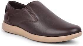 Casual Shoes For Unisex ( Brown )