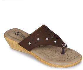 Liberty Women Brown Flats & Sandals
