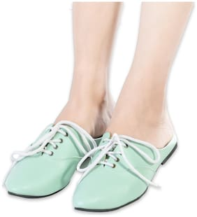 Liviva Women Green Mules