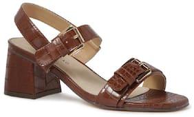 London Rag Women Brown Heeled Sandals