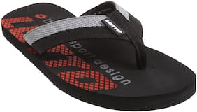 Lotto Men Black & Red Outdoor slippers