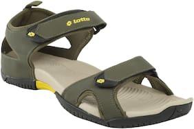 Lotto Men Green & Yellow Sandals