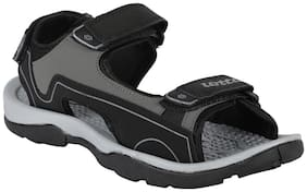 Lotto Men Black Sandals & Floaters