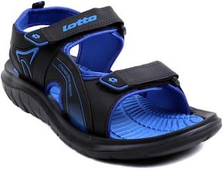Lotto Men Navy Blue & Blue Sandals