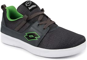 Lotto Men's Grey & Green Casual Shoes