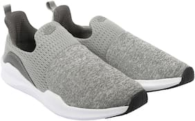 Men Grey Slip-On Sneakers