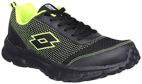 Lotto Men's Splash Black & Lime Running Shoes