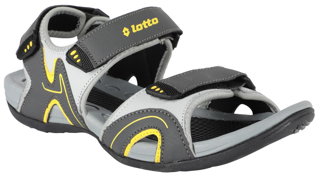50a6e9724 Buy Lotto Men Grey Sandals   Floaters Online at Low Prices in India ...