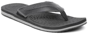 Lotto PU Black Outdoor Slippers For Men