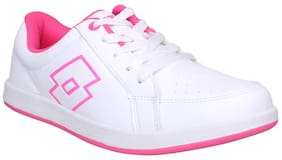 Lotto Women's Logo Plus W White Walking Shoes