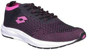 Lotto Women SANTA ROSA Running Shoes ( Black & Pink )