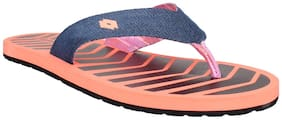Lotto Women's Alaska Coral and Navy Slippers and Flip Flops