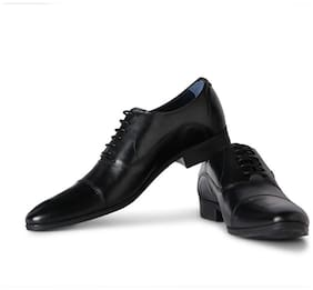 Louis Philippe Men Black Formal Shoes