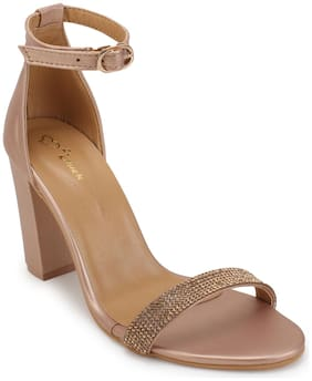 Lovely Chick Women Copper Sandals
