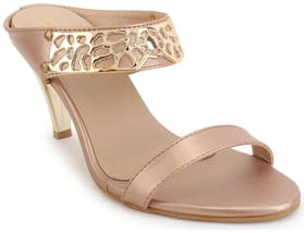 Lovely Chick Women Gold Heeled Sandals