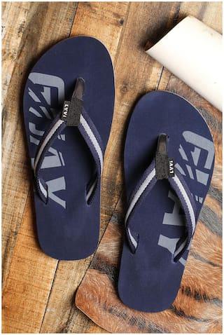 LYVI Men Blue Outdoor Slippers