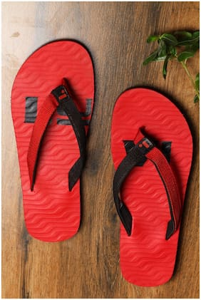 LYVI Joy Red Light Weight Flip Flop's for Men's