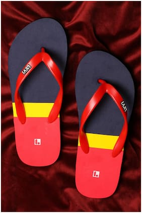 LYVI Men Red Outdoor Slippers