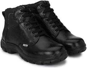 Manslam Genuine Leather Safety Shoe with Steel Toe Boots