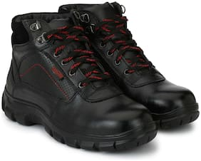 Manslam Genuine Leather Safety Shoes with Steel Toe