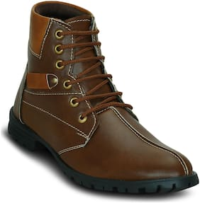 Get Glamr Men's Brown Ankle Boots