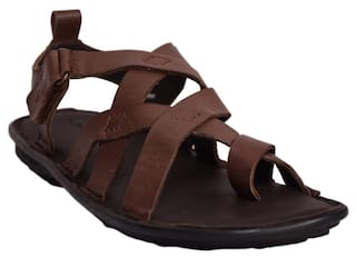 594acb8036ddc7 Buy Mardi Gras Formal Brown Leather Sandal for Men-5662 Online at ...