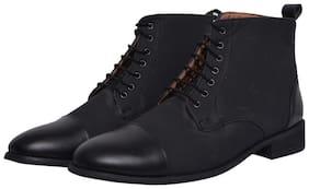 MARKENIACS Men Black Outdoor Boots - DRESS BOOTS - ELTDBBLK