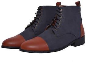 MARKENIACS Men Navy Blue Outdoor Boots - DRESS BOOTS - ELTBLUTAN